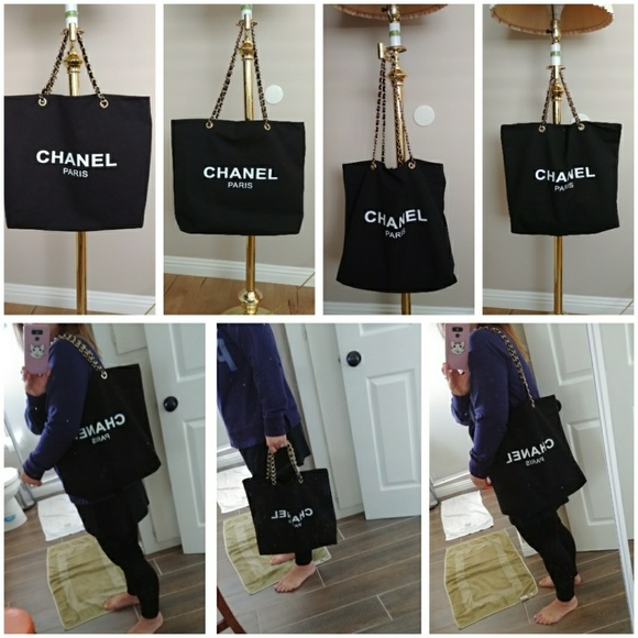 9086c2a5c4a7 chanel Handbags - CHANEL VIP gift Black Canvas Tote Travel Bag